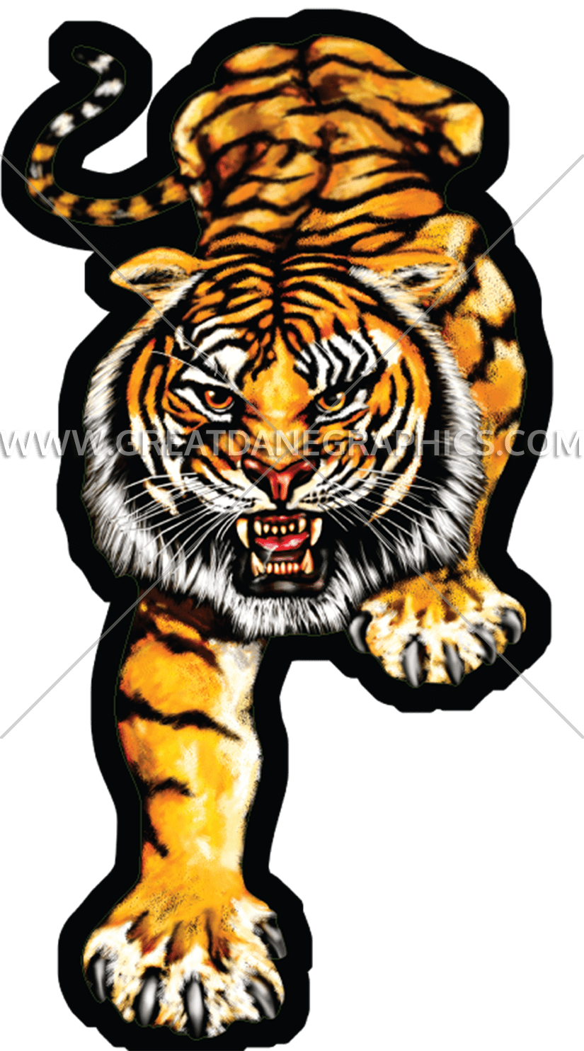 Clipart tiger file. Full production ready artwork