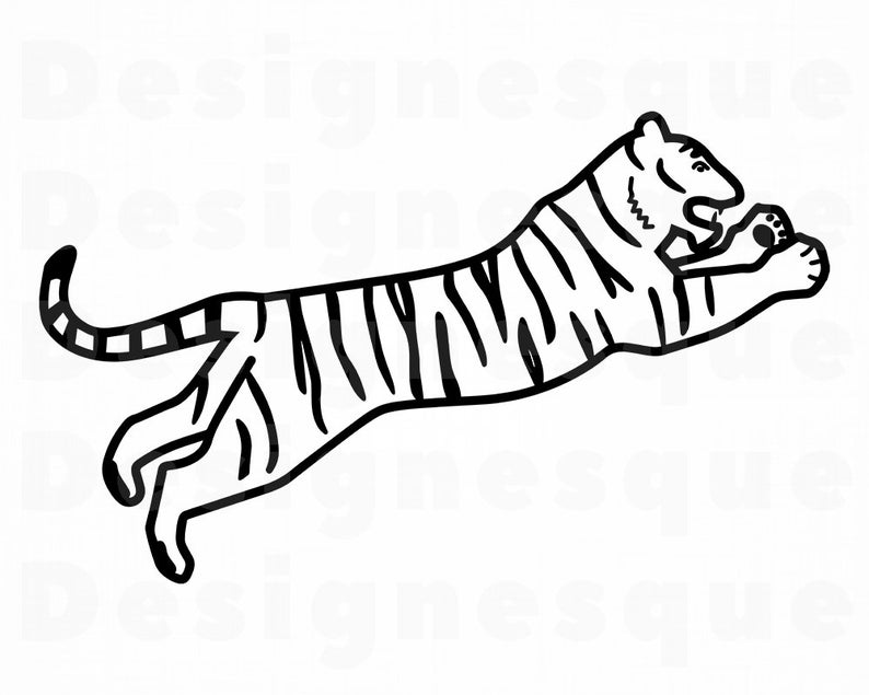 Clipart tiger file. Svg files for cricut