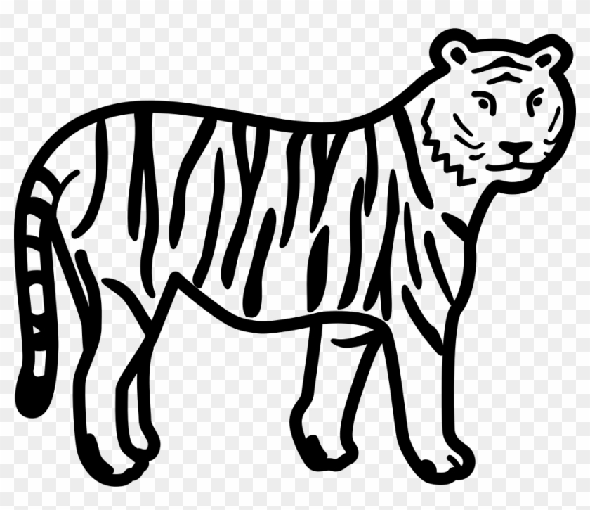 Svg black and white. Clipart tiger file
