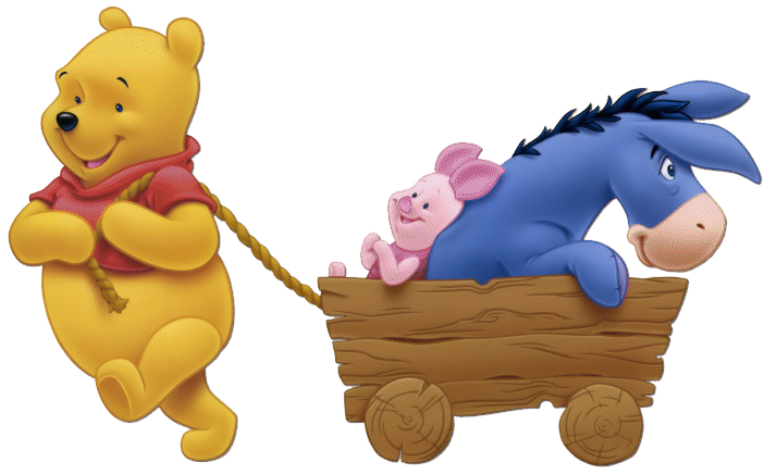 Winnie the pooh group. Wagon clipart toy wagon