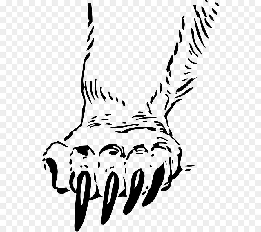 Black line background png. Clipart tiger hand