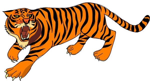 Clipart tiger moving picture. Cliparts zone