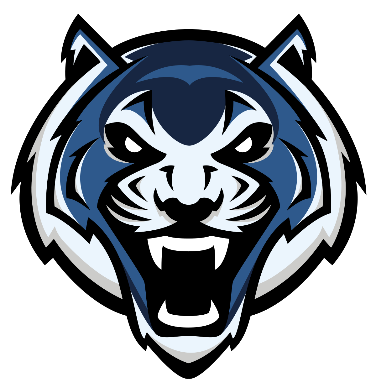 Logos lincoln blue tigers. Clipart tiger muscle