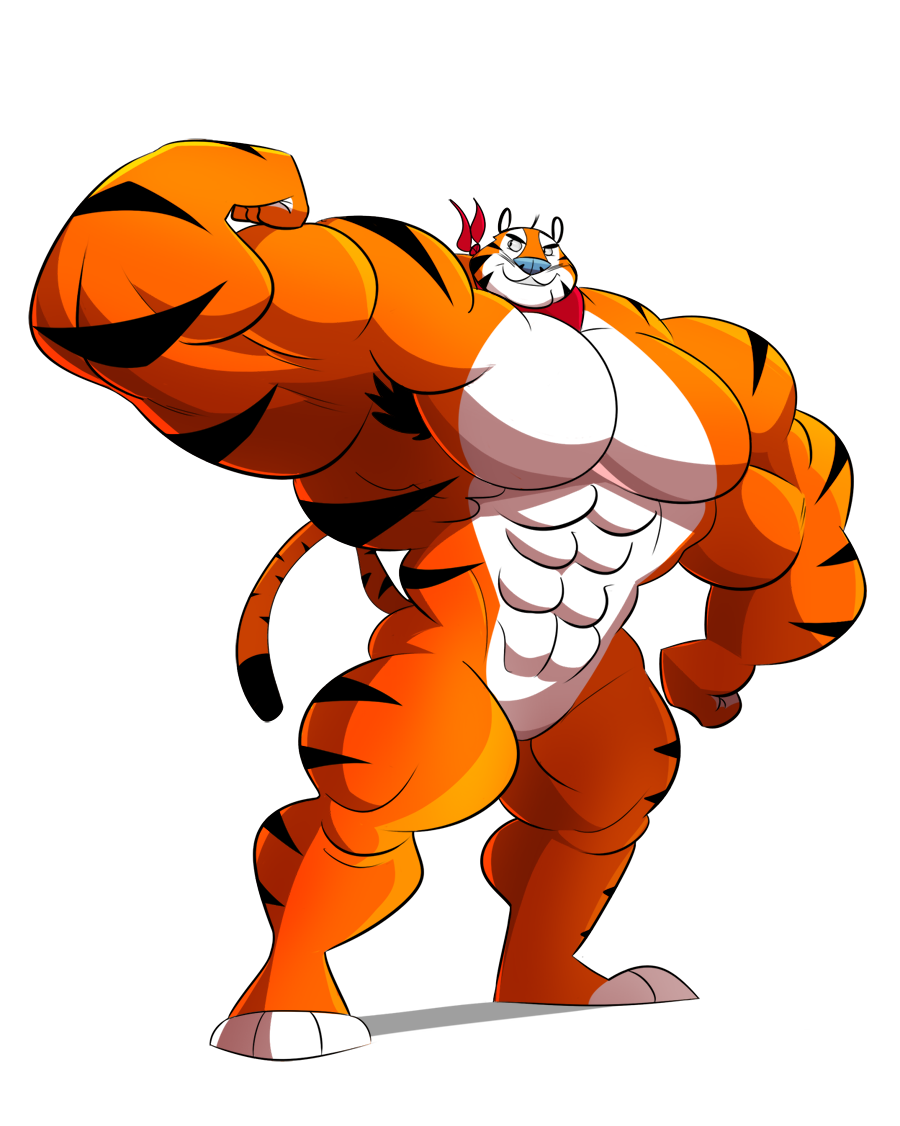 Clipart tiger muscle.  collection of tony