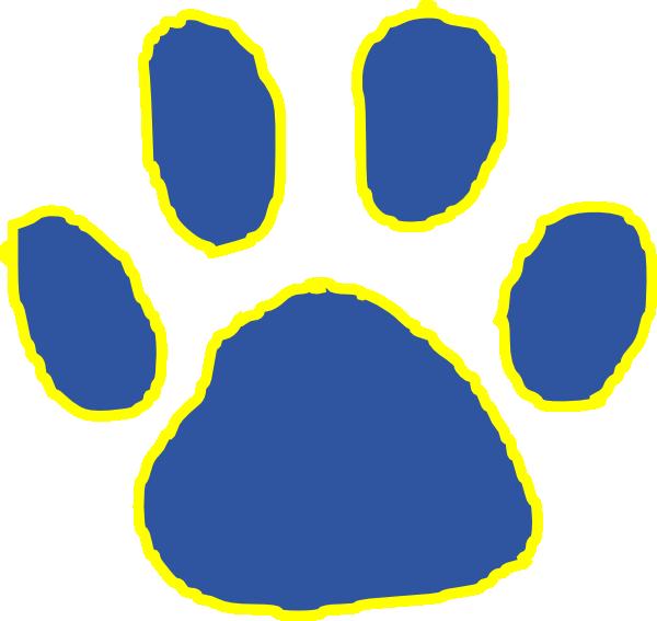 Footprints clipart tiger. Paw clip art at