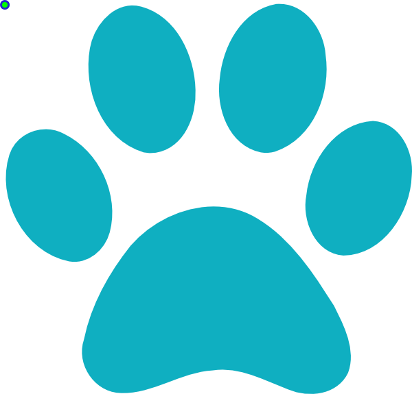 Clipart tiger paw print. Blue clip art at