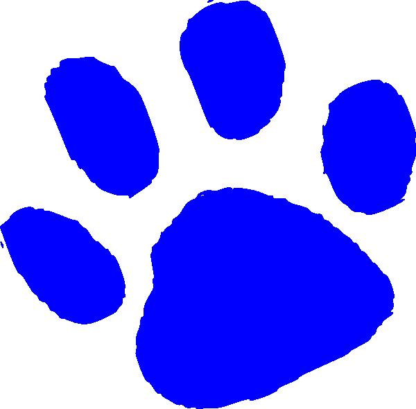 Blue clip art free. Clipart tiger paw print
