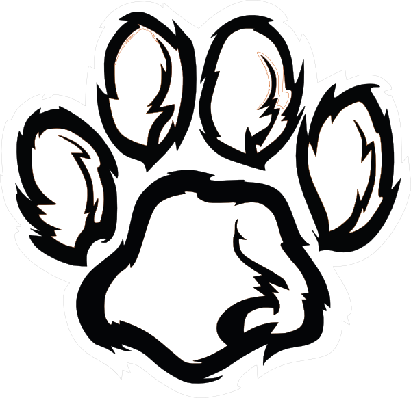 Paw print drawing at. Pawprint clipart dalmatian