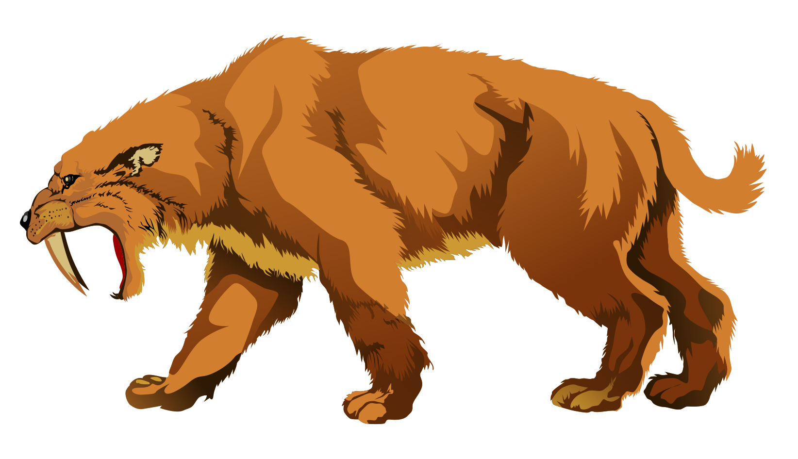 Tooth clipart file. Image sabertooth tiger png