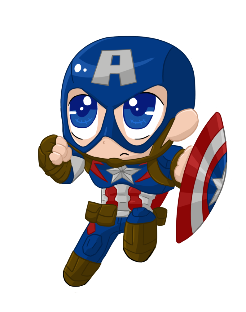 Spaceship clipart avengers. Captainamerica aou chibi by