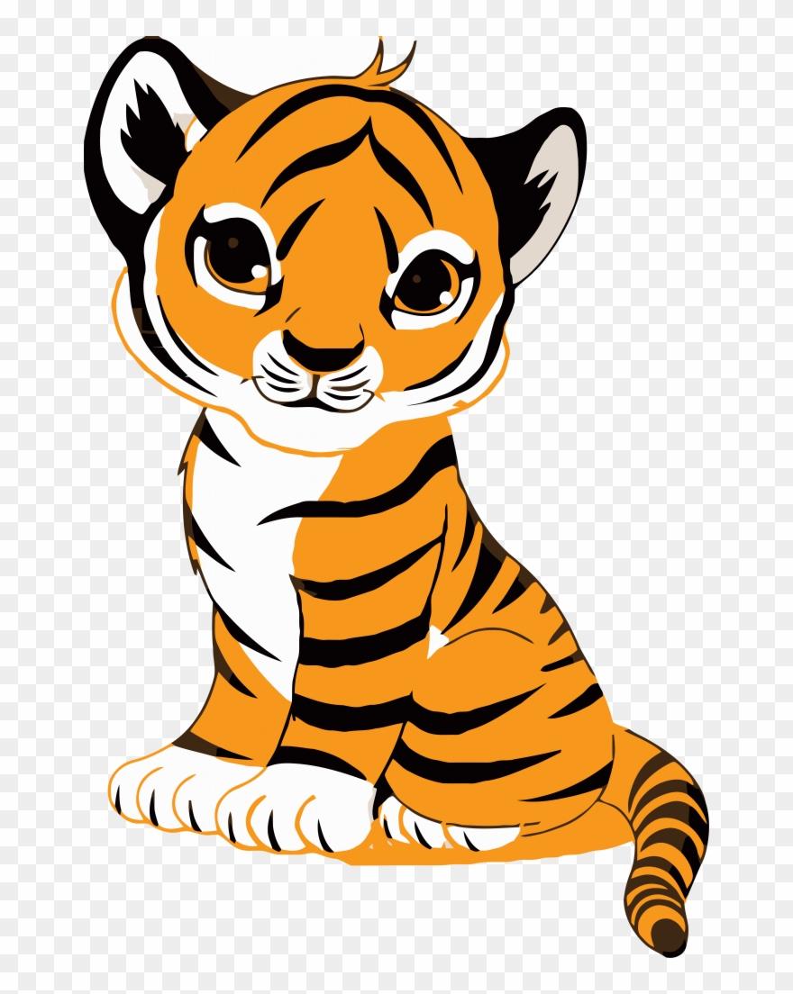 Face clip art royalty. Clipart tiger tiger cub