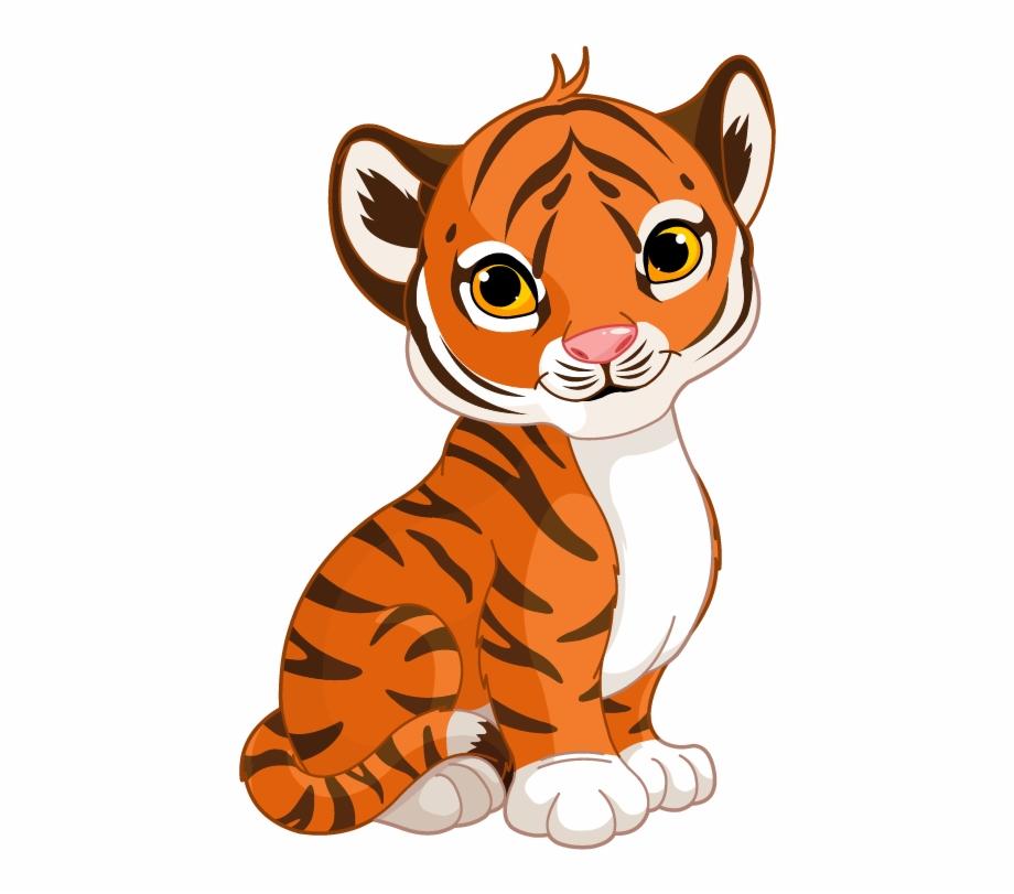 Cute cartoon free png. Clipart tiger tiger cub