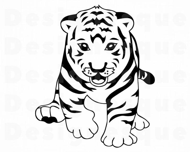 Clipart tiger tiger cub. Svg files for cricut