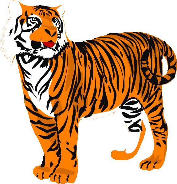 Clip art at clker. Clipart tiger tigre