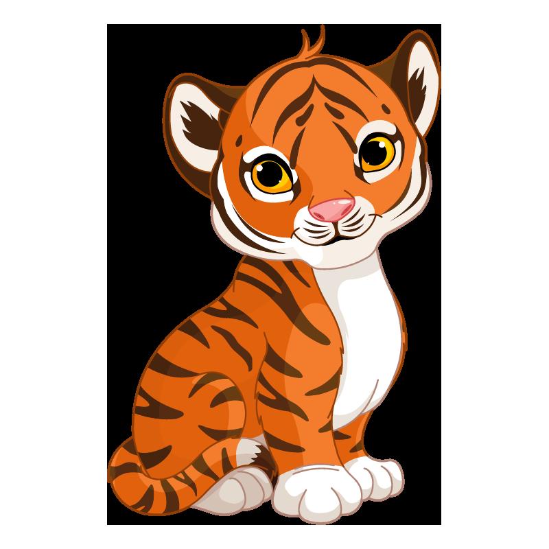 Animado bebe . Clipart tiger tigre