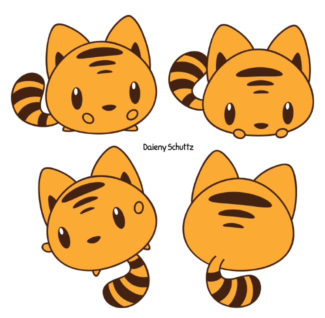 Chibi by daieny on. Emoji clipart tiger