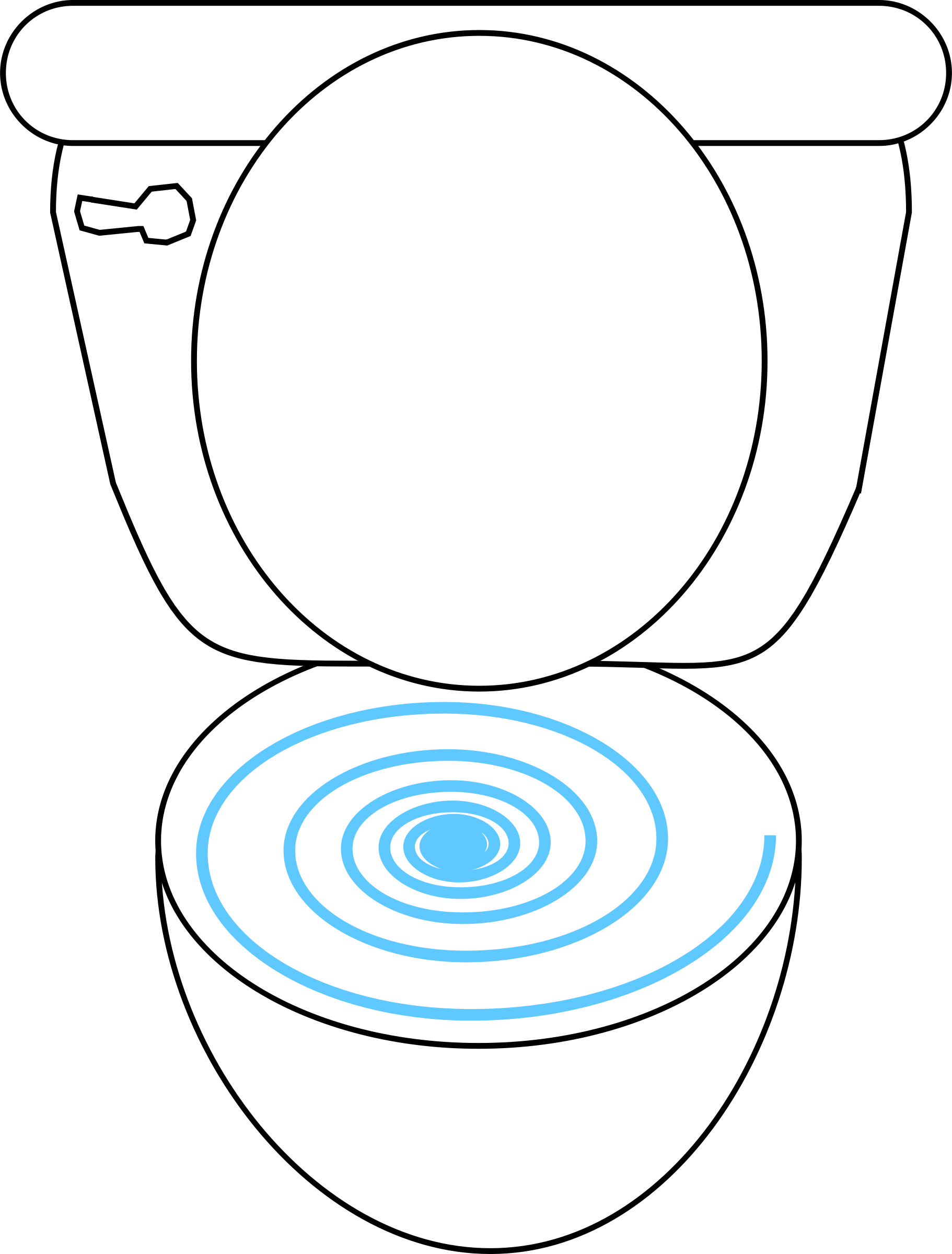 Swirly big image png. Clipart toilet flush toilet