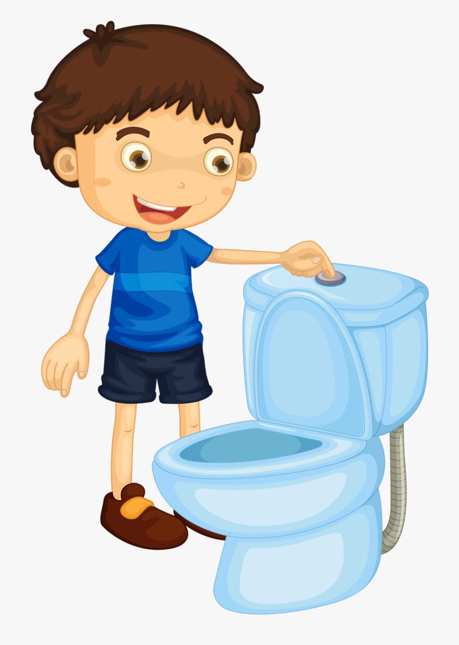 Cepillarse flush toilet clip. Comb clipart kid haircut