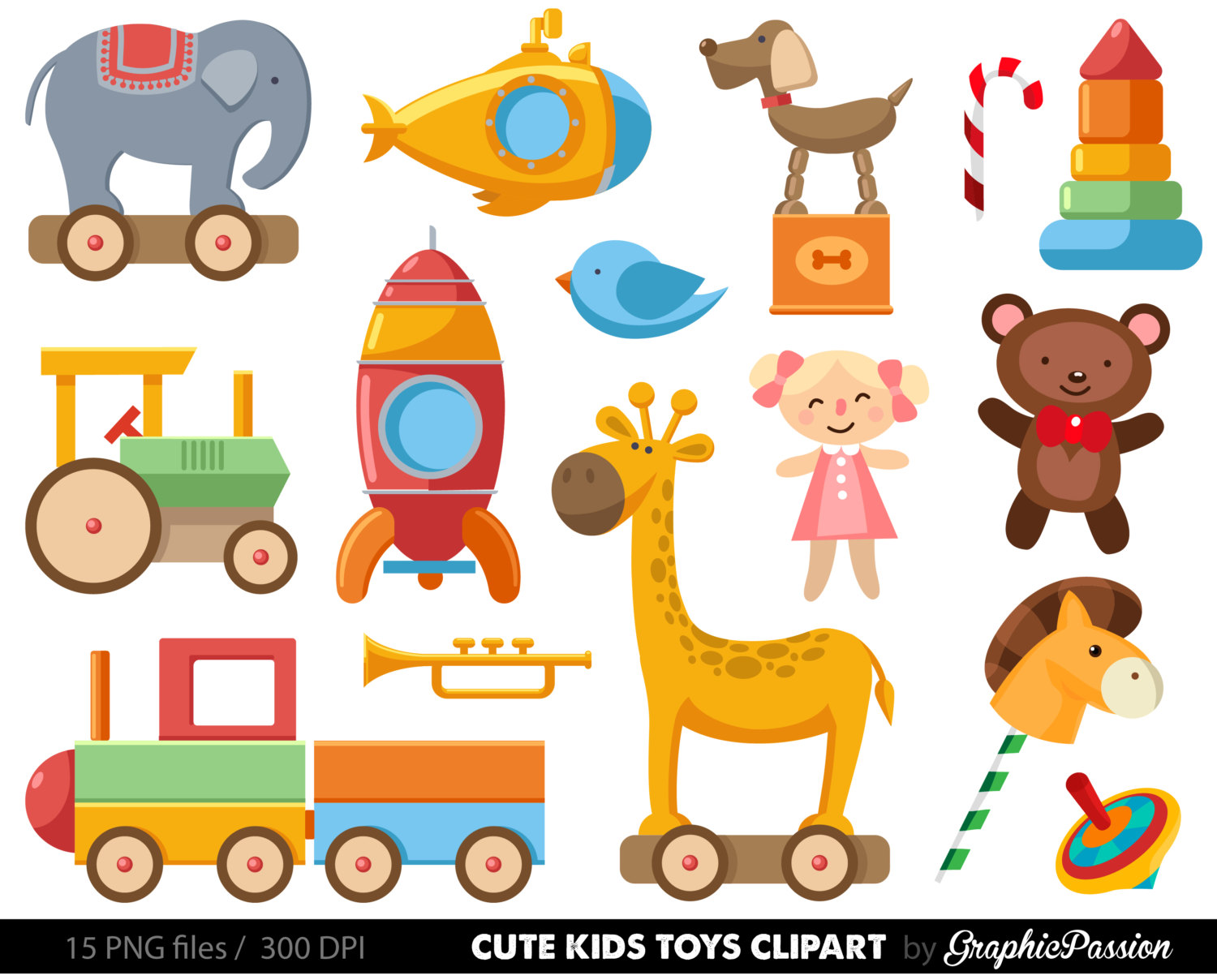 Baby clip art toy. Clipart toys