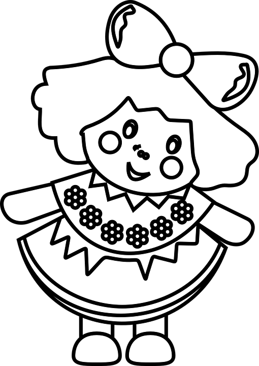 Toys png transparent images. Dolls clipart black and white