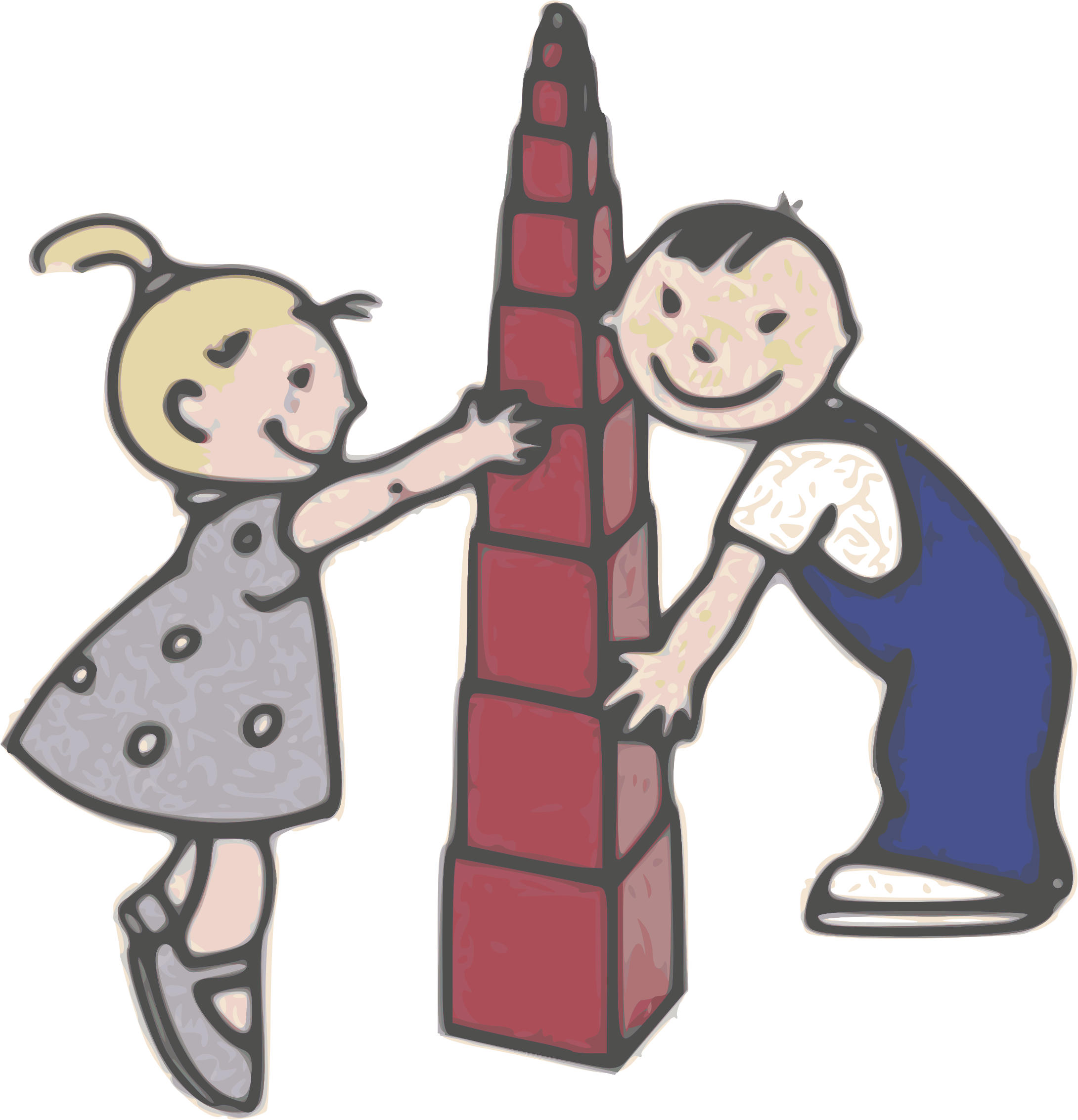 Kids play with giancarlo. Tower clipart basic
