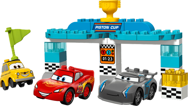 Piston cup race lego. Clipart toys construction toy