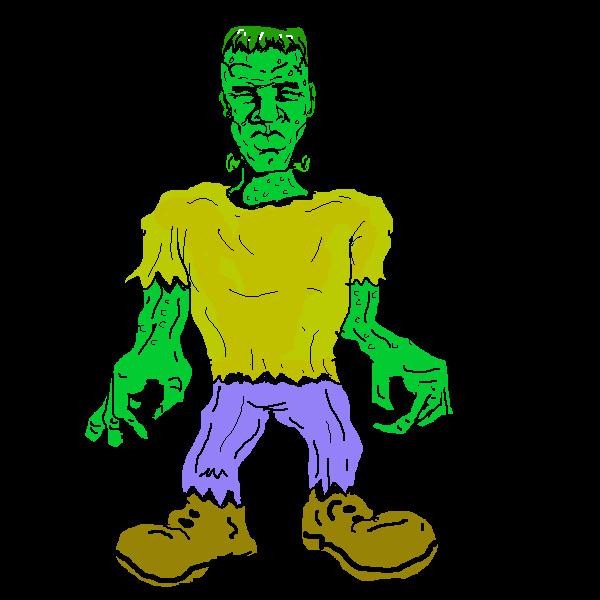 Cute clip art is. Frankenstein clipart frankenstein and bride