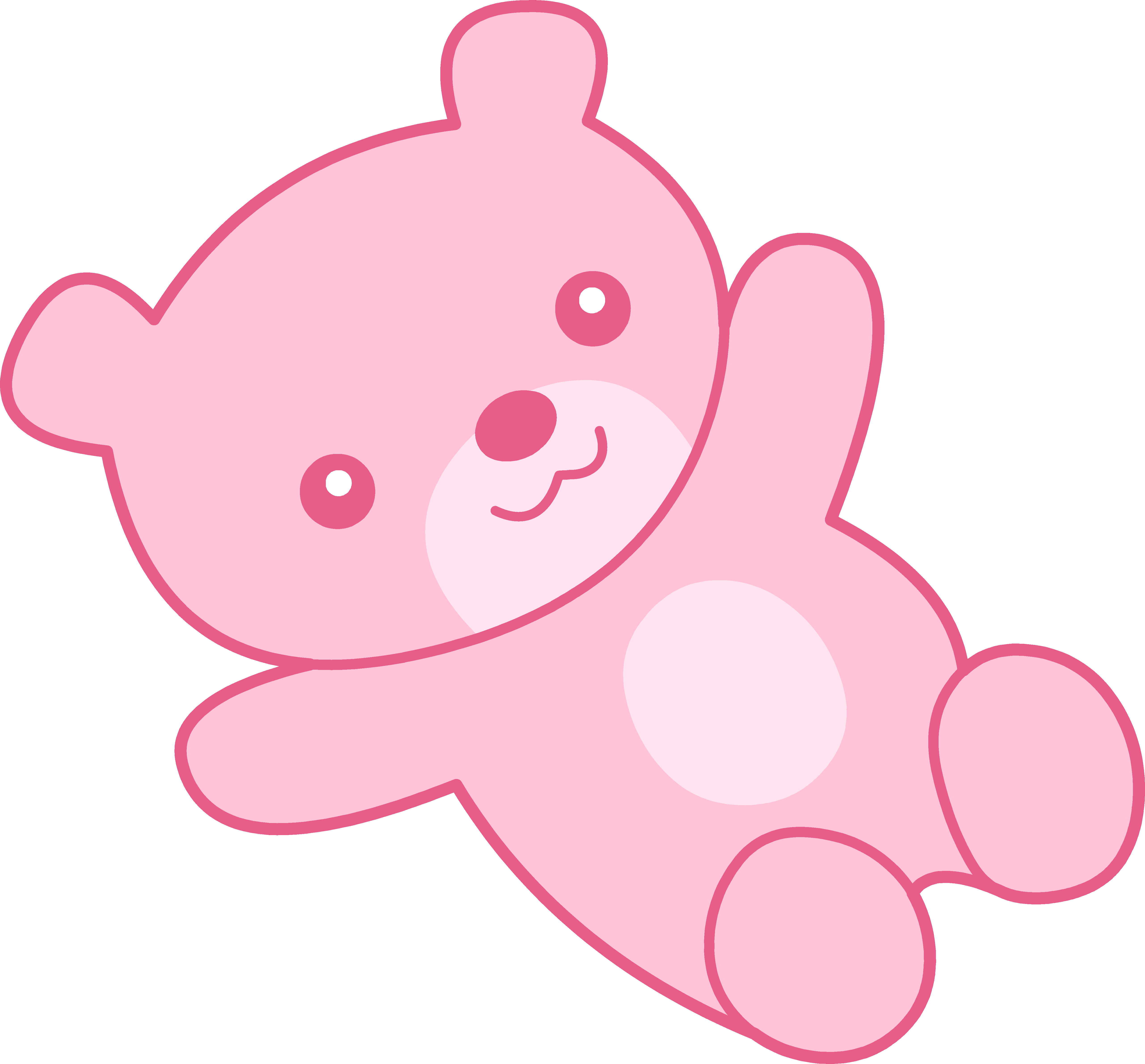 Clipart toys kawaii. Cute pink teddy bear