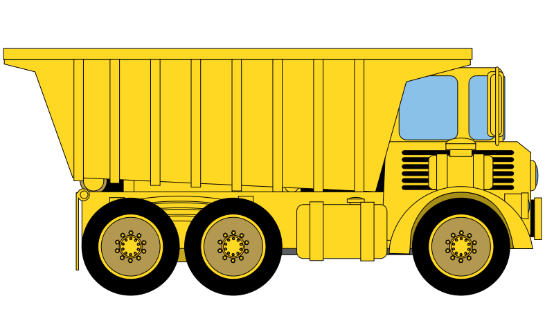 Free truck icons graphic. Crane clipart yellow