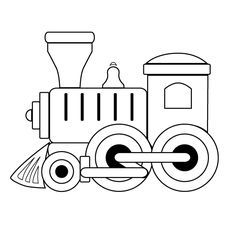 Clipart train outline. Toy coloring and templates