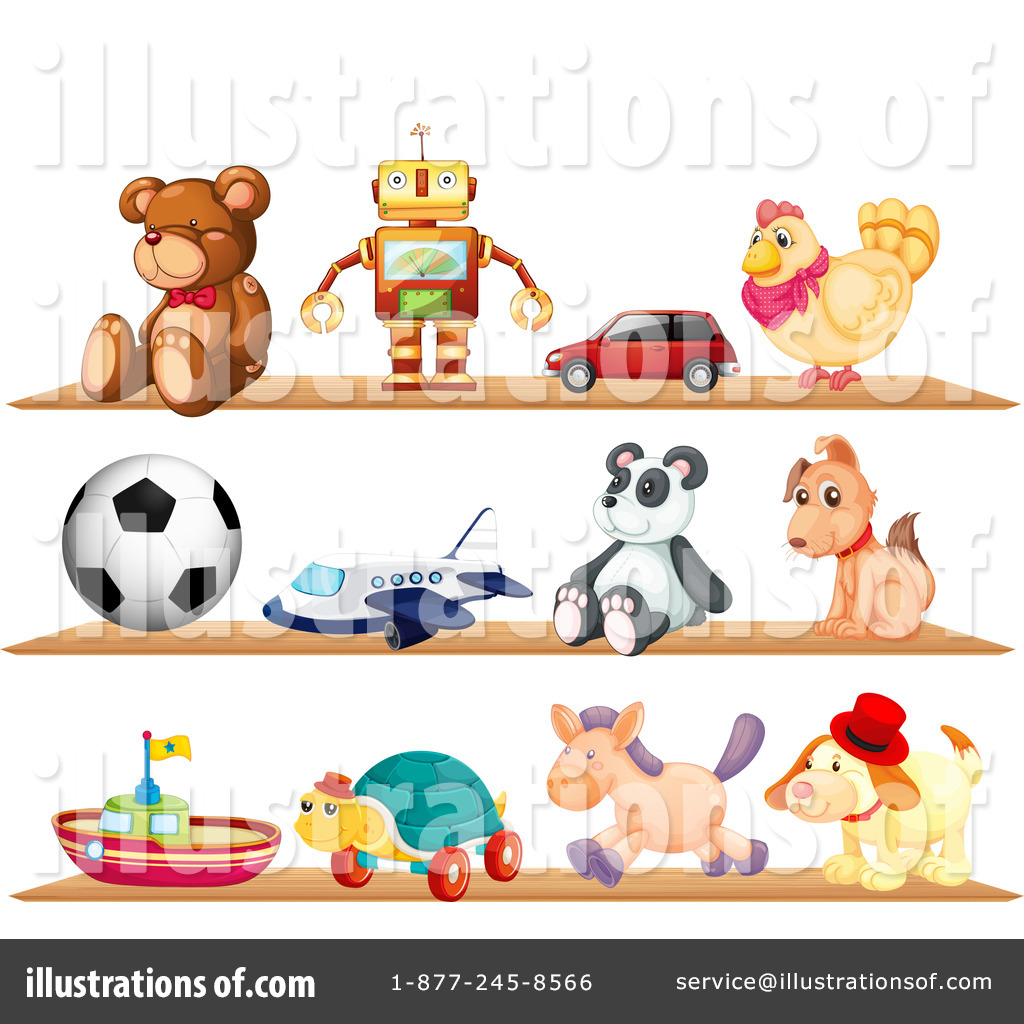 Toy clipart illustration. Toys by graphics rf