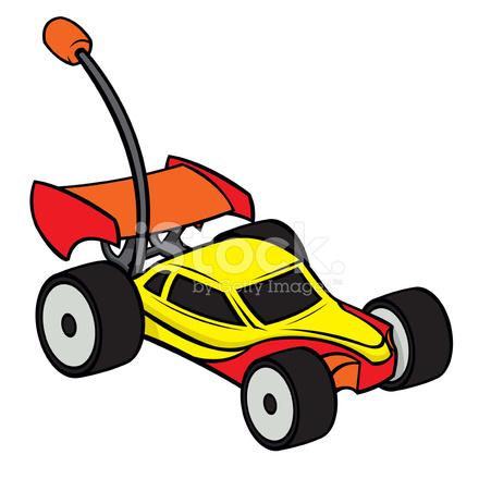 Clipart toys rc car. Remote control stock vector