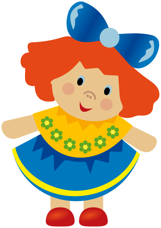 Doll toys for prefer. Color clipart toy