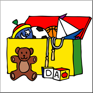 Clipart toys toy chest. Clip art color i