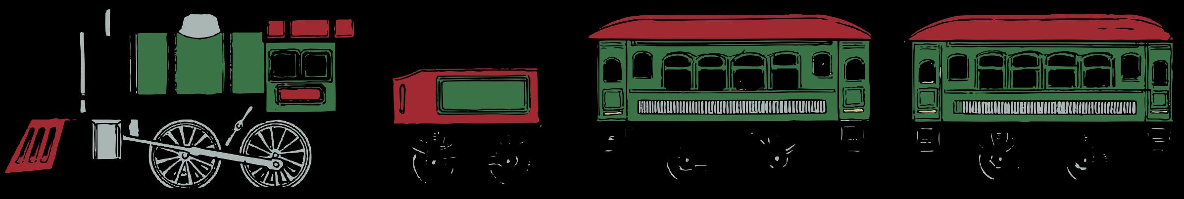 Color set big image. Clipart train toy train