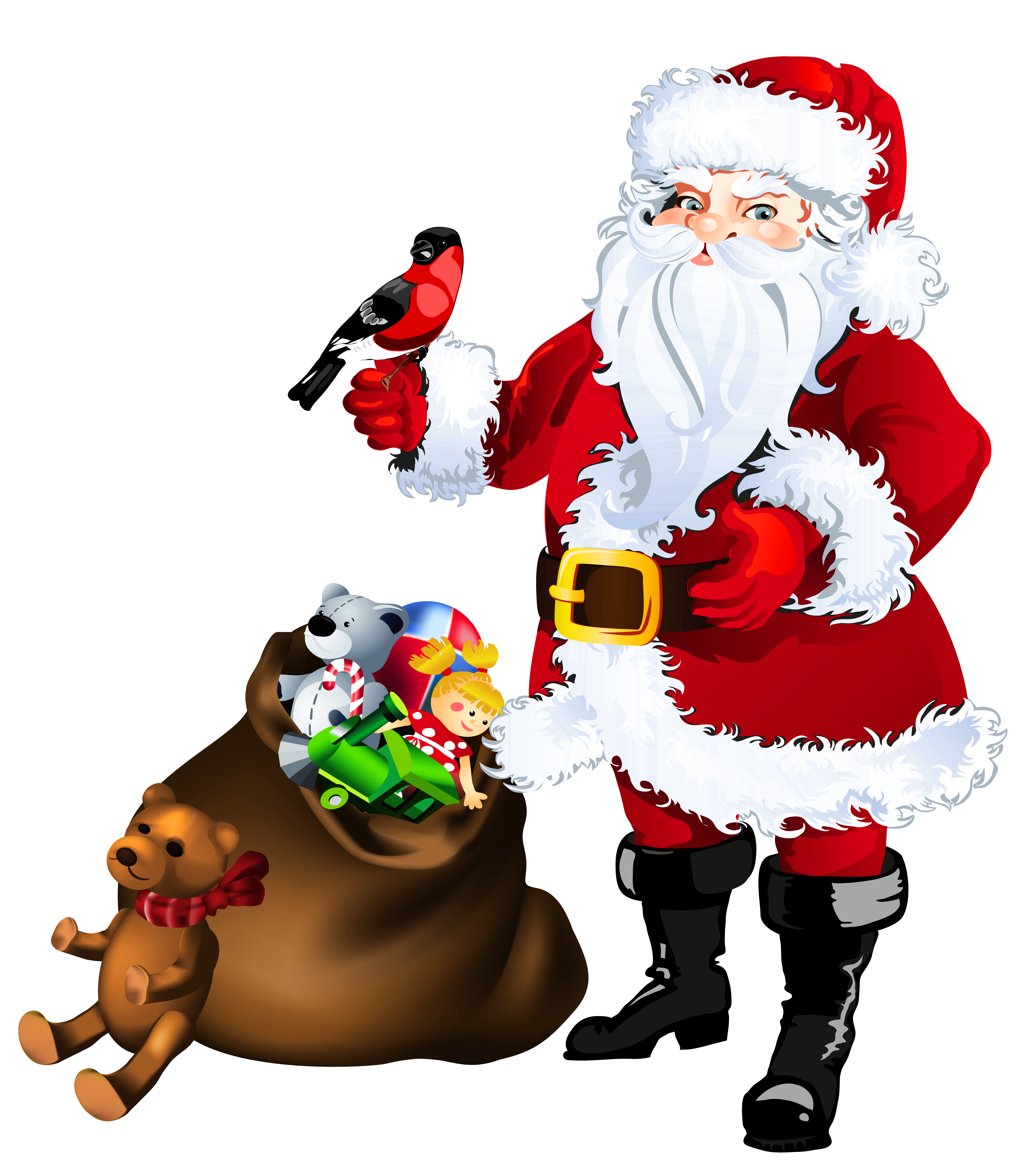 Transparent santa claus with. Keys clipart toy