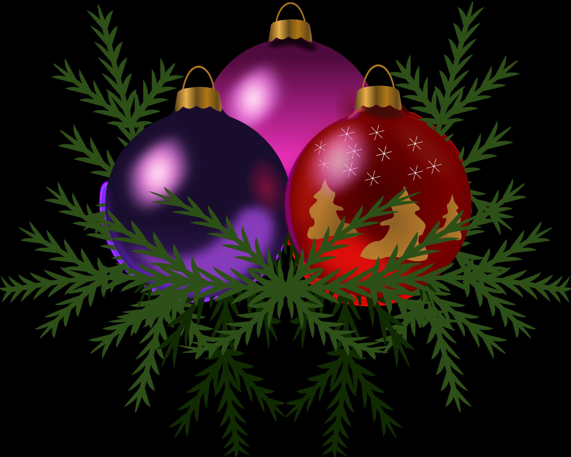 Christmas tree big image. Clipart toys xmas