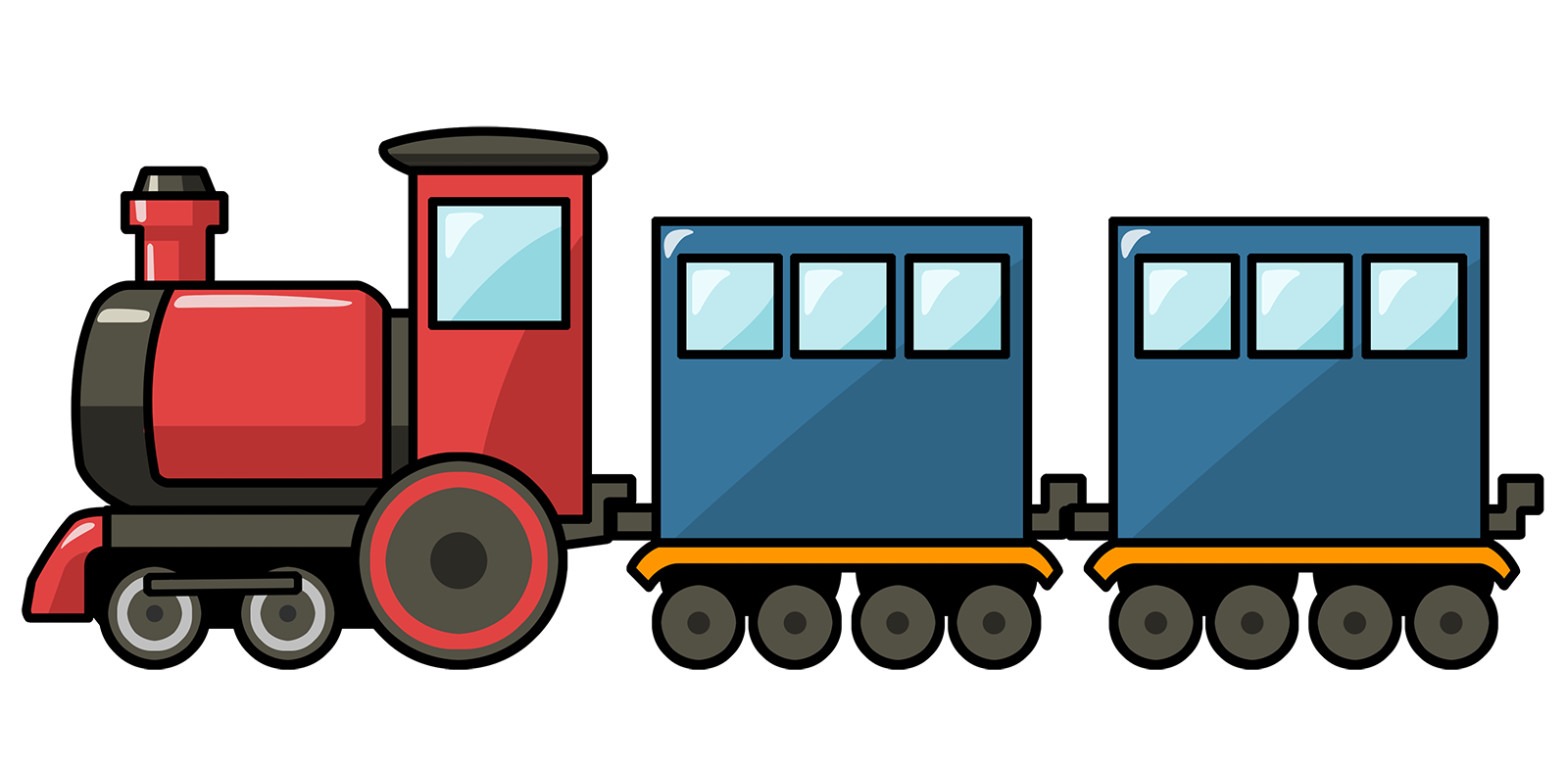 Engine clipart animated train. Cartoon free cute clip