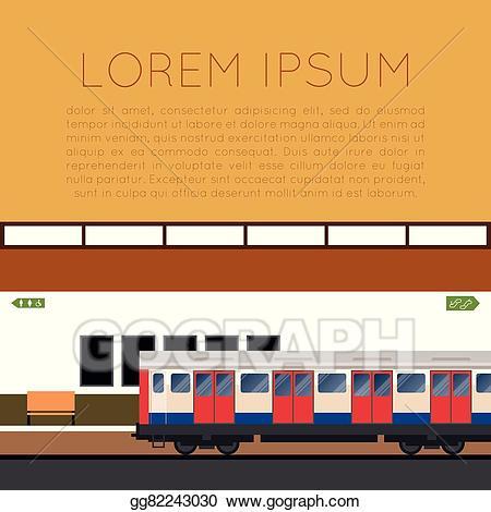 Clipart train banner. Eps vector subway stock