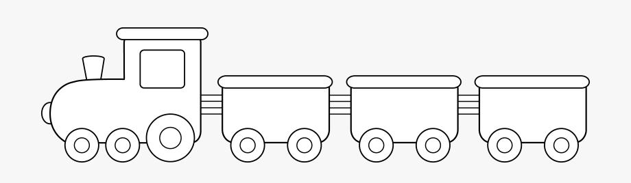 Clipart train black and white. Cute colorable design simple