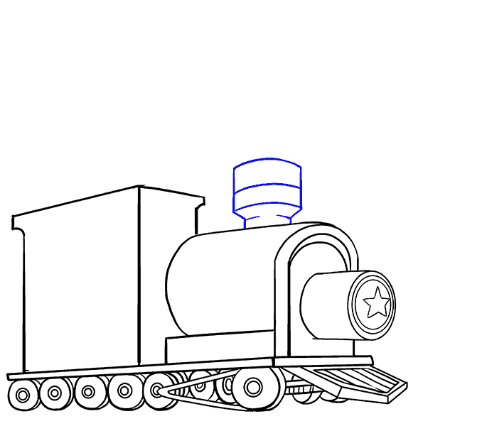 How to draw a. Engine clipart front train