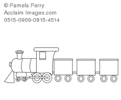 Clipart train black and white.