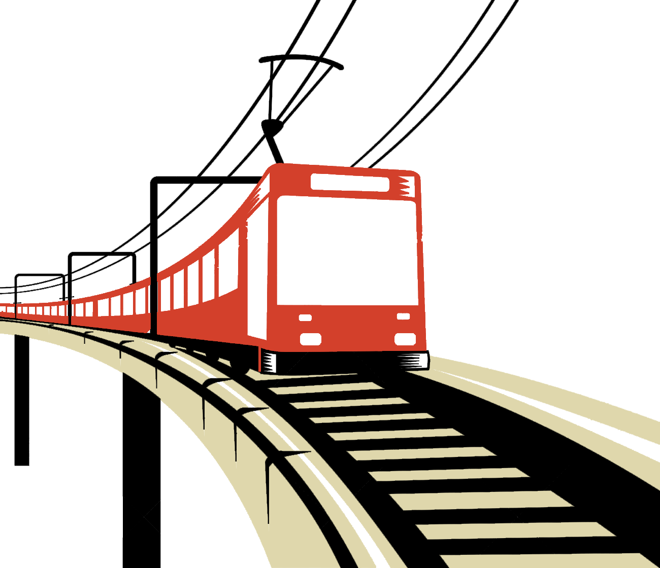 Electric clipart fixed expense. East west electrified railway