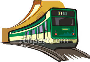 Clipart train commuter train. A green royalty free