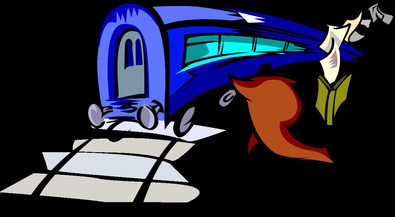 Runs to catch vector. Clipart train commuter train