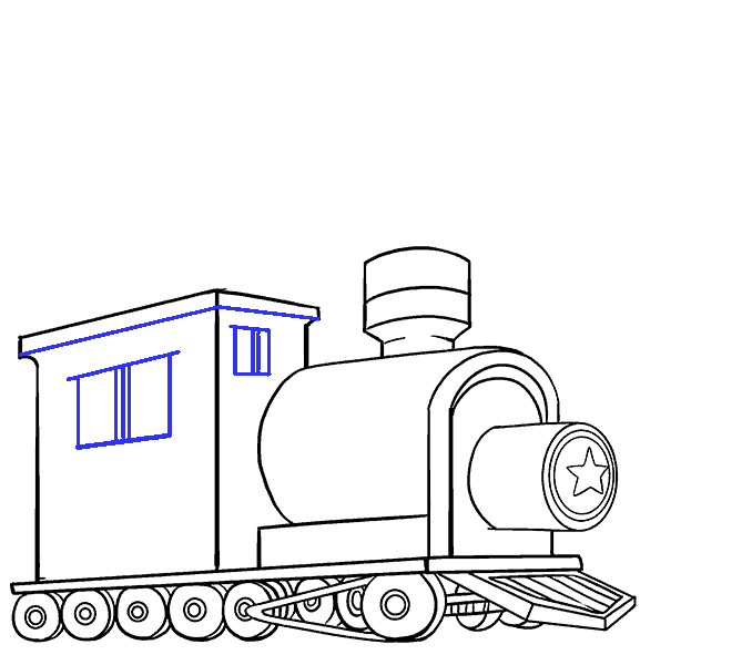 Clipart train commuter train. How to draw step