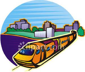 A near city royalty. Clipart train commuter train