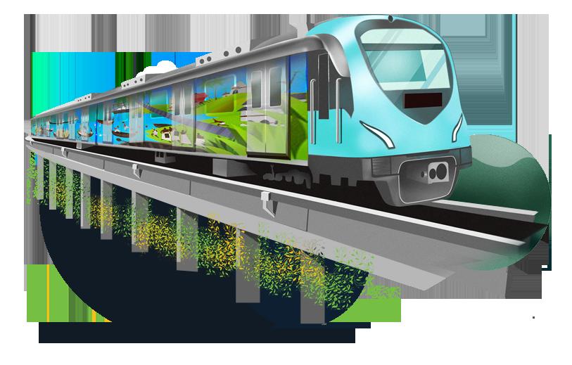 Clipart train commuter train. Home kochi metro rail