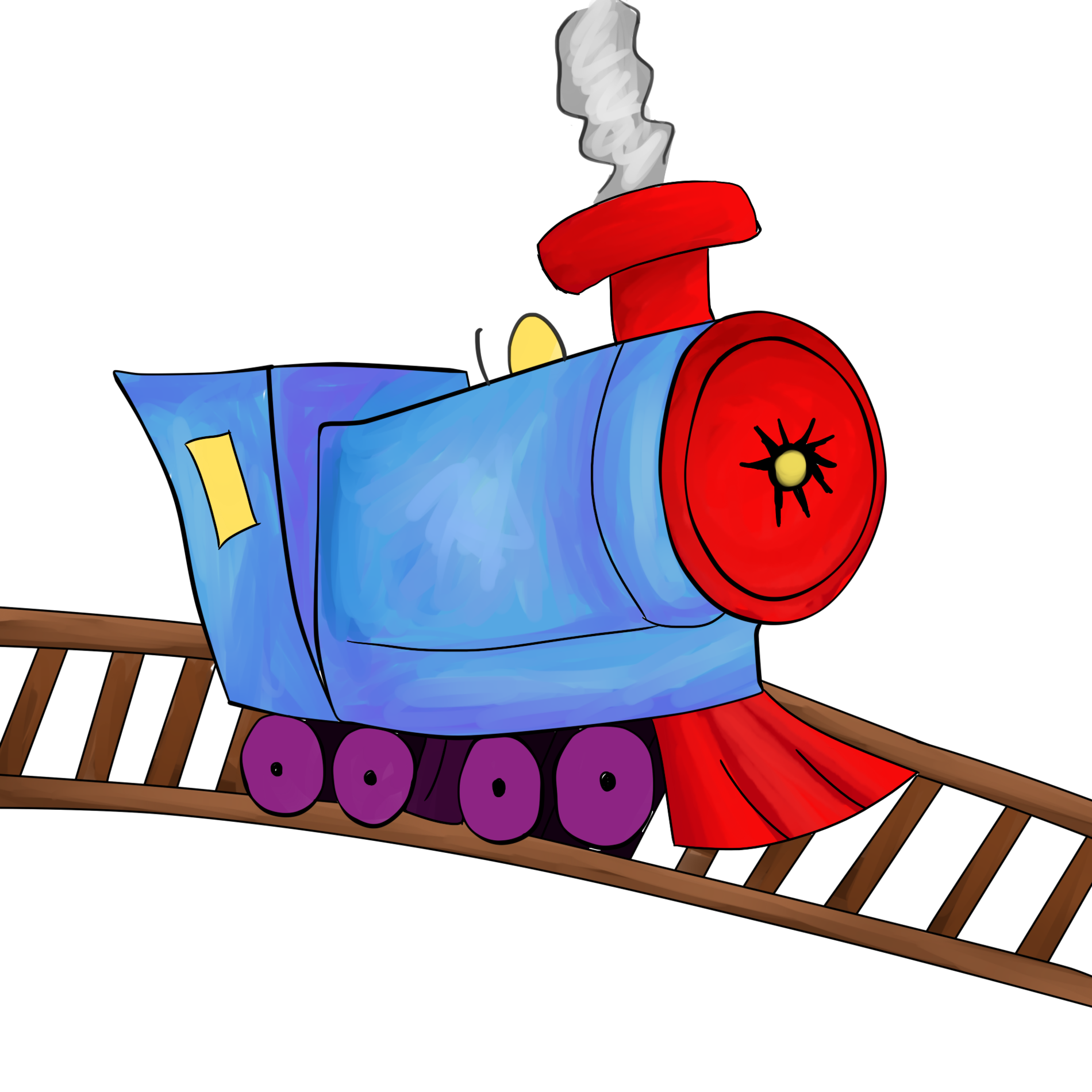 Engine clipart train conductor.  collection of tracks