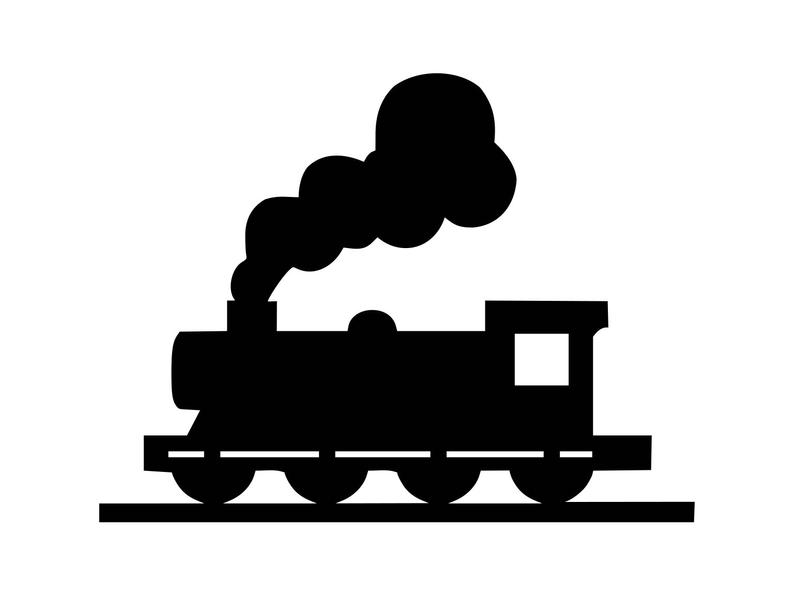 Svg silhouette files for. Clipart train file
